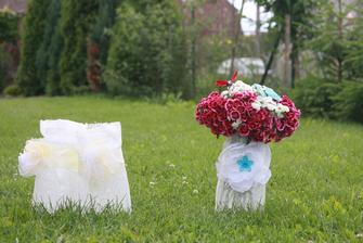 pro efekt s květinou