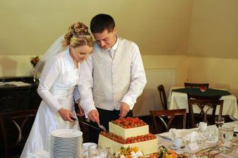 svatební dort byl perfektní!!!