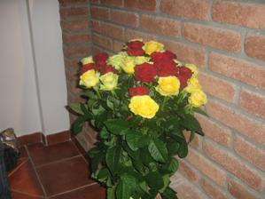 tyto růže jsem dostala k narozeninám od miláčka:-))