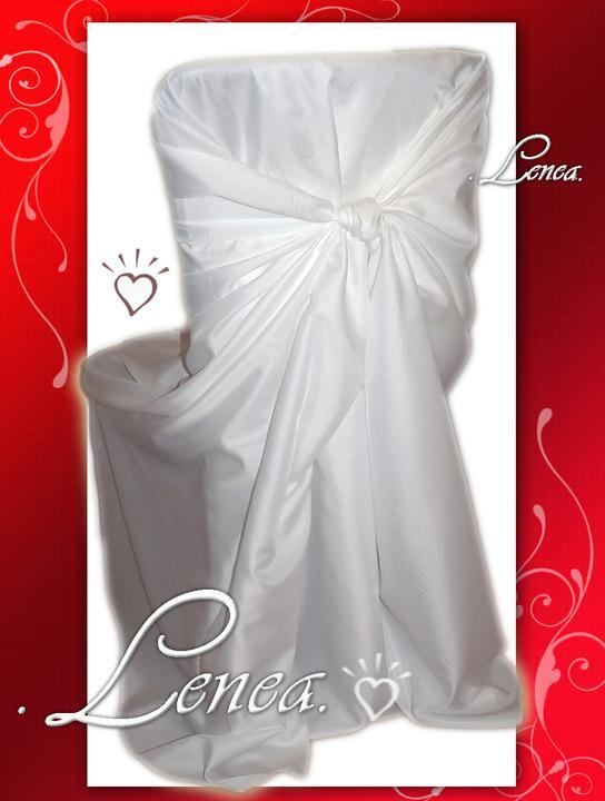 Svatební potahy na židle-zapůjčení,prodej i šití na míru - Obrázek č. 11