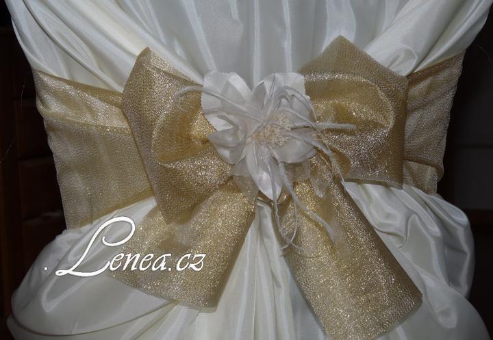 Svatební potahy na židle-zapůjčení,prodej i šití na míru - Obrázek č. 28