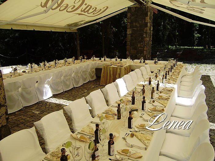 Svatební potahy na židle-zapůjčení,prodej i šití na míru - Potahy a ubrusy k zapůjčení i prodeji- výrobce Lenea