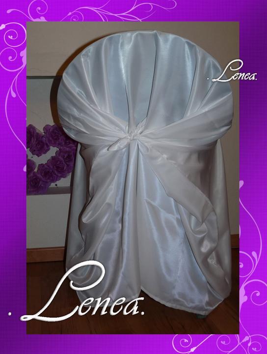Svatební potahy na židle-zapůjčení,prodej i šití na míru - Obrázek č. 79