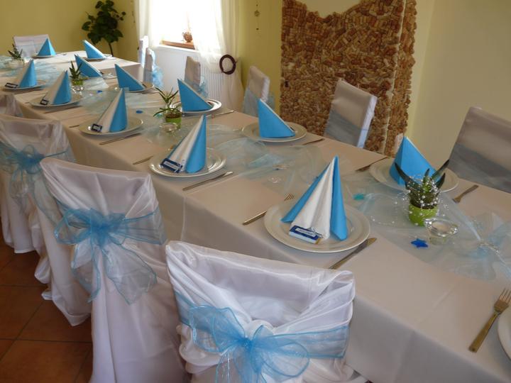 Svatební potahy na židle-zapůjčení,prodej i šití na míru - Obrázek č. 94