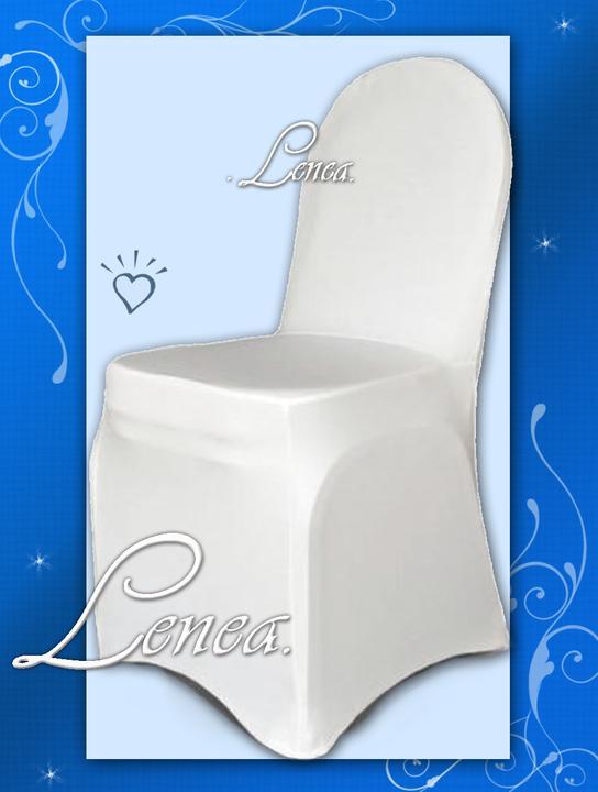 Svatební potahy na židle-zapůjčení,prodej i šití na míru - Strečový potah je vhodný na všechny žilde(bez područek),přizpůsobí se kulatému i rovnému opěradlu.