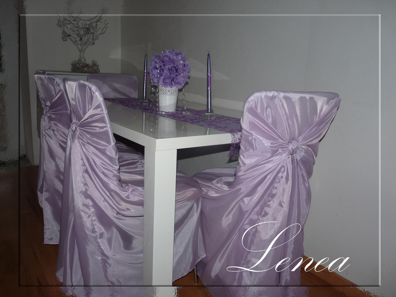 Svatební potahy na židle-zapůjčení,prodej i šití na míru - Obrázek č. 4