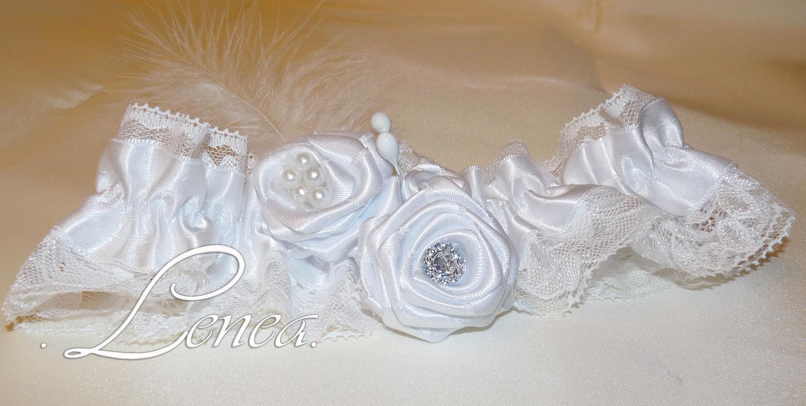 Svatební podvazky-kolekce Adele- 22 barev - Obrázek č. 2