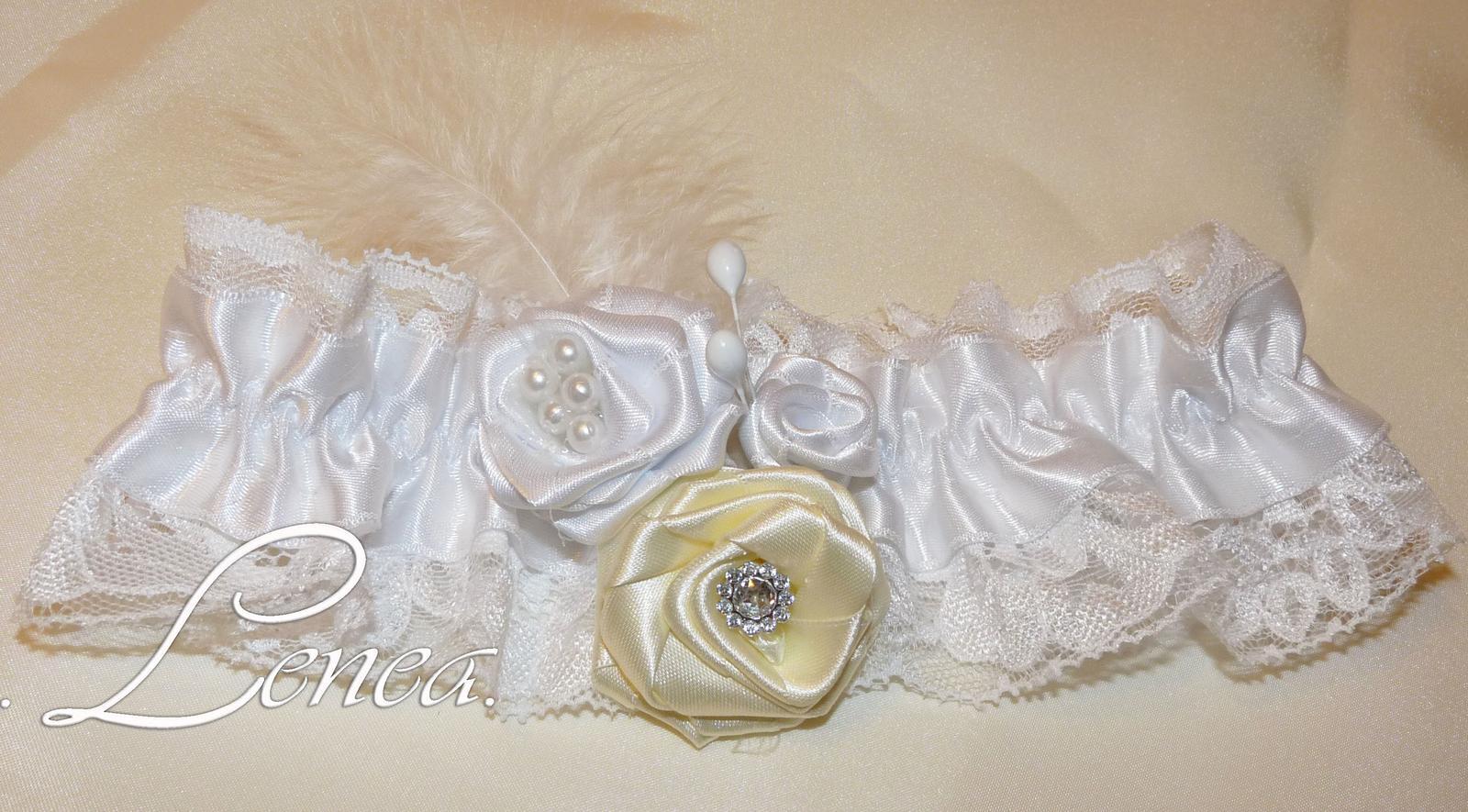 Svatební podvazky-kolekce Adele- 22 barev - Obrázek č. 3