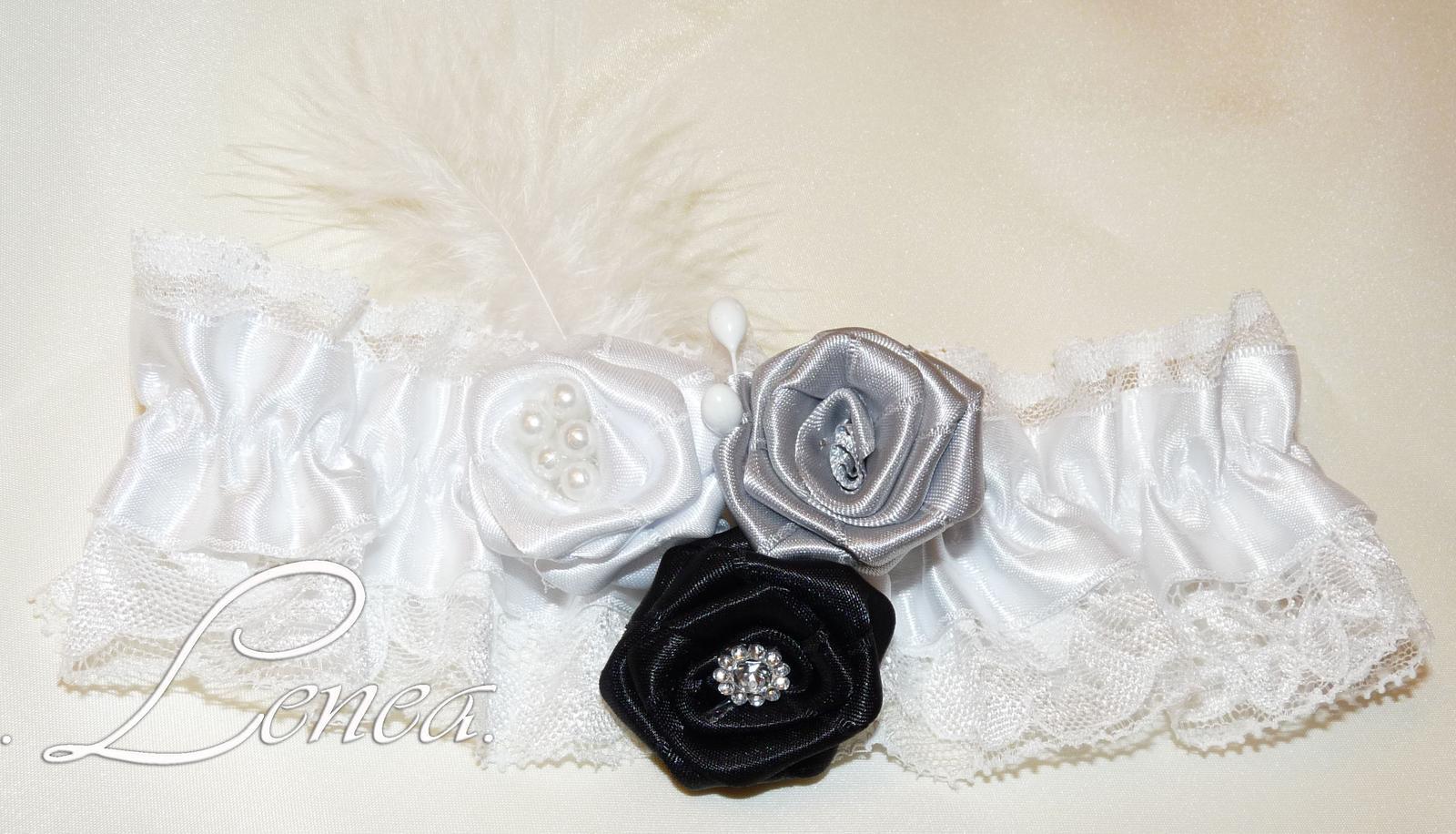 Svatební podvazky-kolekce Adele- 22 barev - Obrázek č. 1