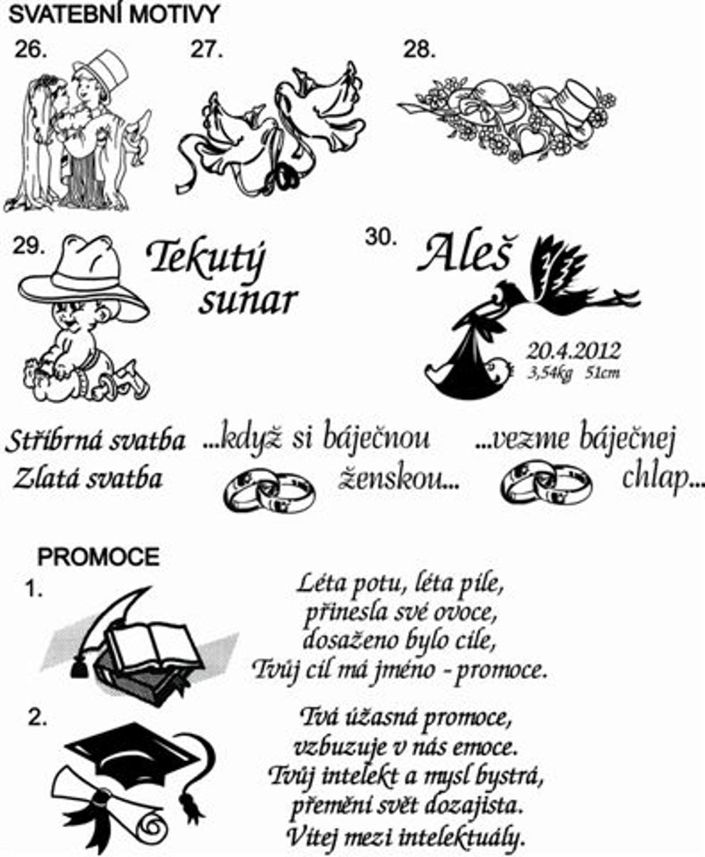 Sklenice Amorek-sada s pískovanými srdíčky - Obrázek č. 4