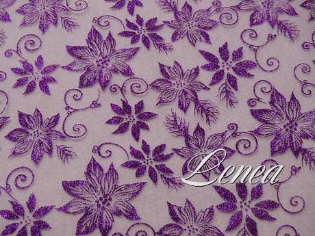 Organza s květy-tmavě fialová - Obrázek č. 1
