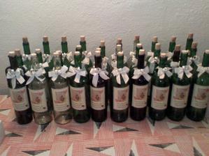 fľaše na víno pripravené