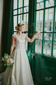 Svadobné šaty s ručne našívanou krajkou 34-36-38, 36