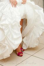moje svadobné topánočky :)
