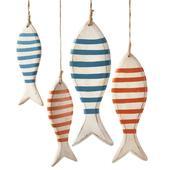 Dekoratívne drevené rybičky,