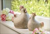 dekoratívna keramická sliepočka ,