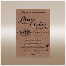 Svatební oznamení na hnědém papíře