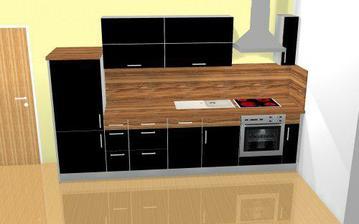 A takto kuchynka bude vypadat :)