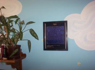 Tady na hvězdné obloze je ta hvězdička, ta uprostřed.Je součástí souhvězdí Medvěd