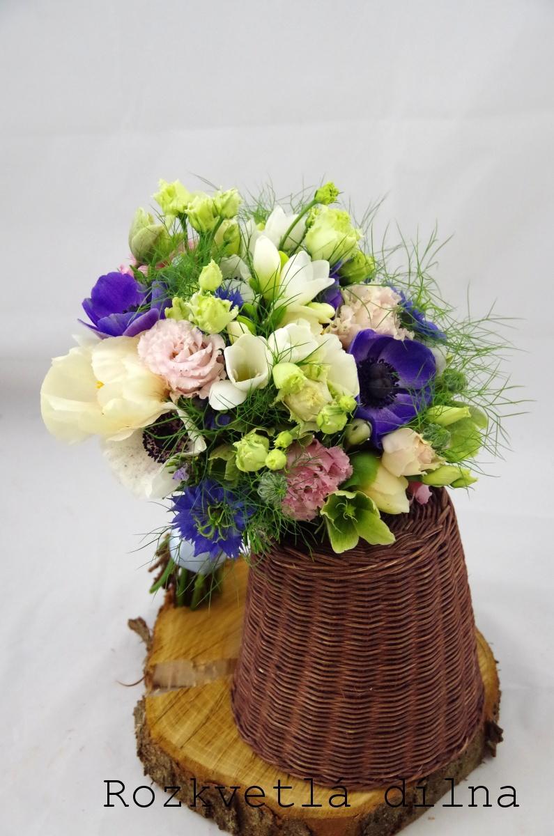 Inspirace pro jarní nevěsty z Rozkvetlé dílny - Anemonky