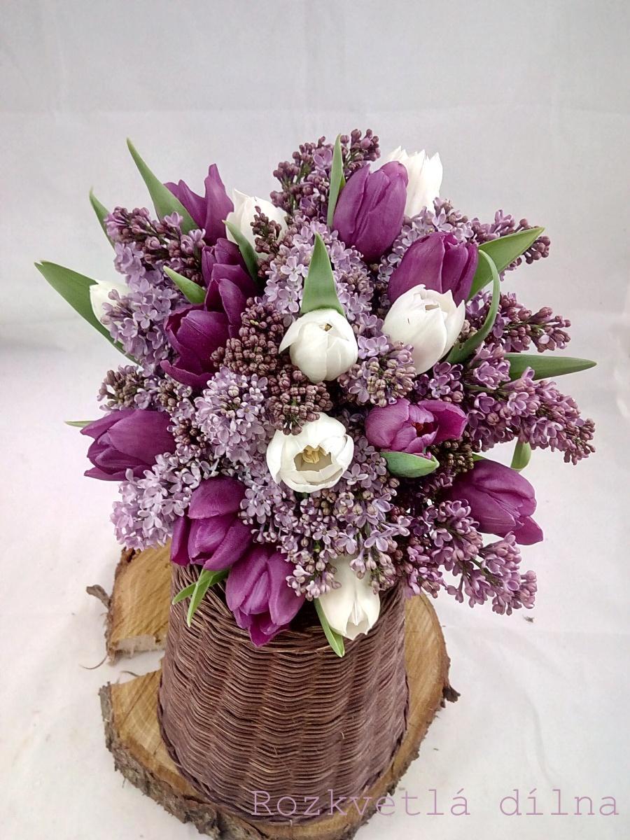 Inspirace pro jarní nevěsty z Rozkvetlé dílny - Tulipány a šeřík