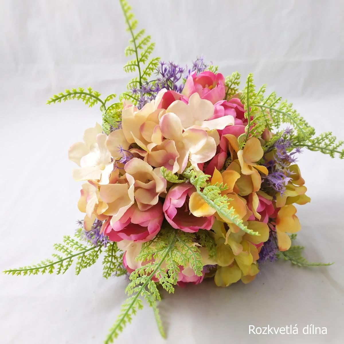 Látkové květiny z Rozkvetlé dílny - Obrázek č. 2