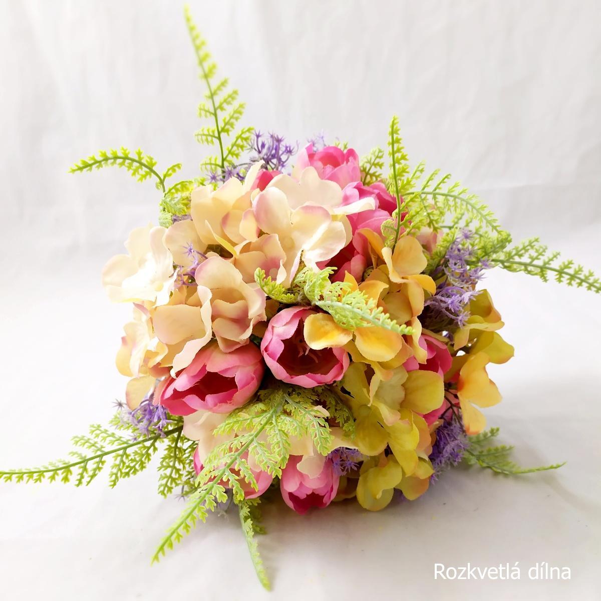 Látkové květiny z Rozkvetlé dílny - Obrázek č. 5