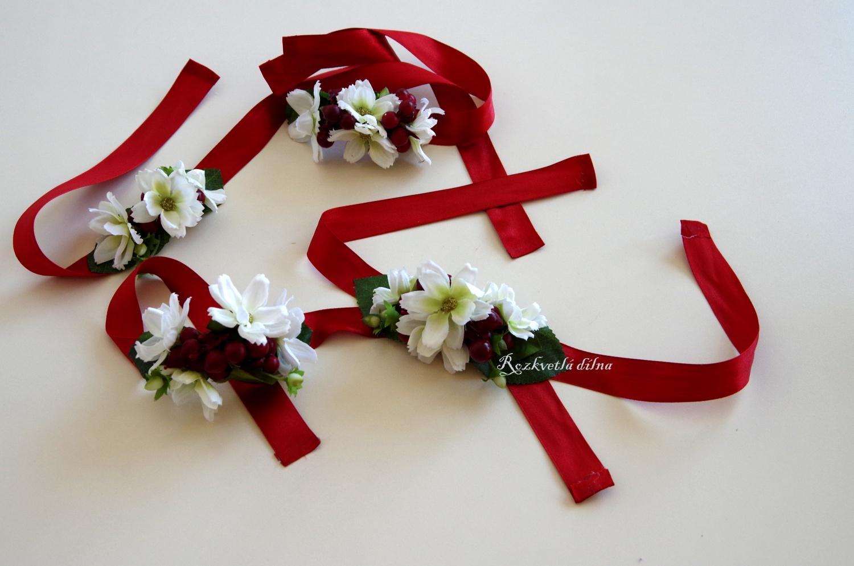 Náramek bílo-červený - Obrázek č. 1