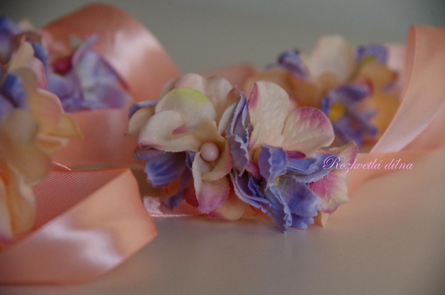 Náramek modro-růžový - Obrázek č. 1