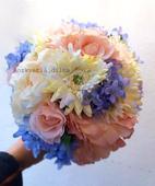 Pastelová - umělá kytice,
