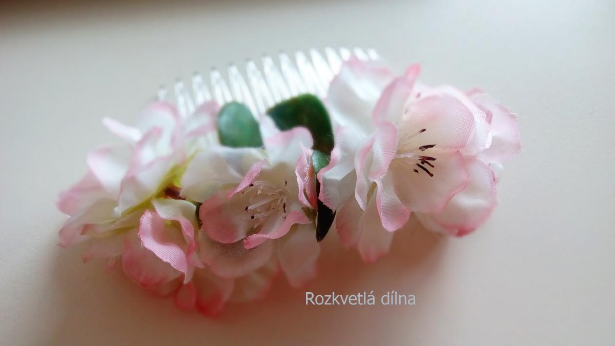 Květinový hřebínek - jabloňové květy - Obrázek č. 1