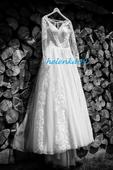 Svadobné šaty s dlhými rukávmi , 38