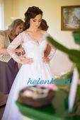 Moje svadobné šaty s dlhými rukávmi, 38