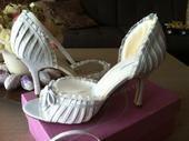 Svadobné sandálky Delicious - snehovo biele, 38