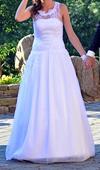 Pohodlné svadobné šaty, 38