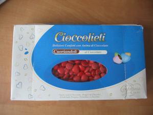 mini čokoládové srdiečka do krabičiek