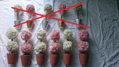Umělé květiny na ozdobu stolů/do oken,