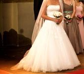 Bílé svatební šaty Pronovias, vel 36-38, 36