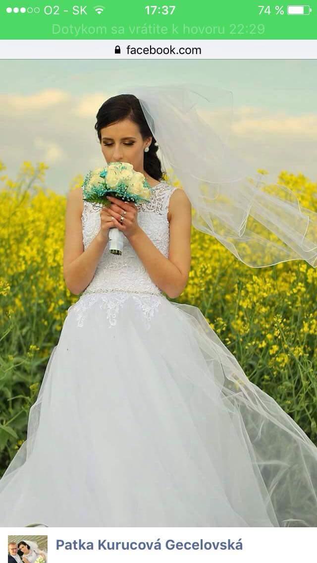 Predávam krásne svadobné šaty... - Obrázok č. 2