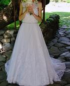 Svadobné šaty pre útlu nevestičku, 34