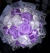 Svatební kytice, fialová,