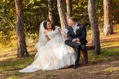 Svatební šaty - ivory s nádechem meruňkové, 42