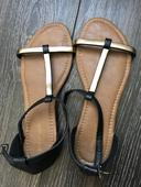 Čierne sandálky, 39
