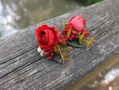 sponky s červenými růžemi,