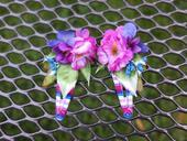 fuchsiové květinové sponečky,