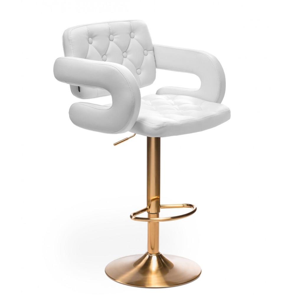 Barové stoličky v LUXUSNEJ bielej - Obrázok č. 1