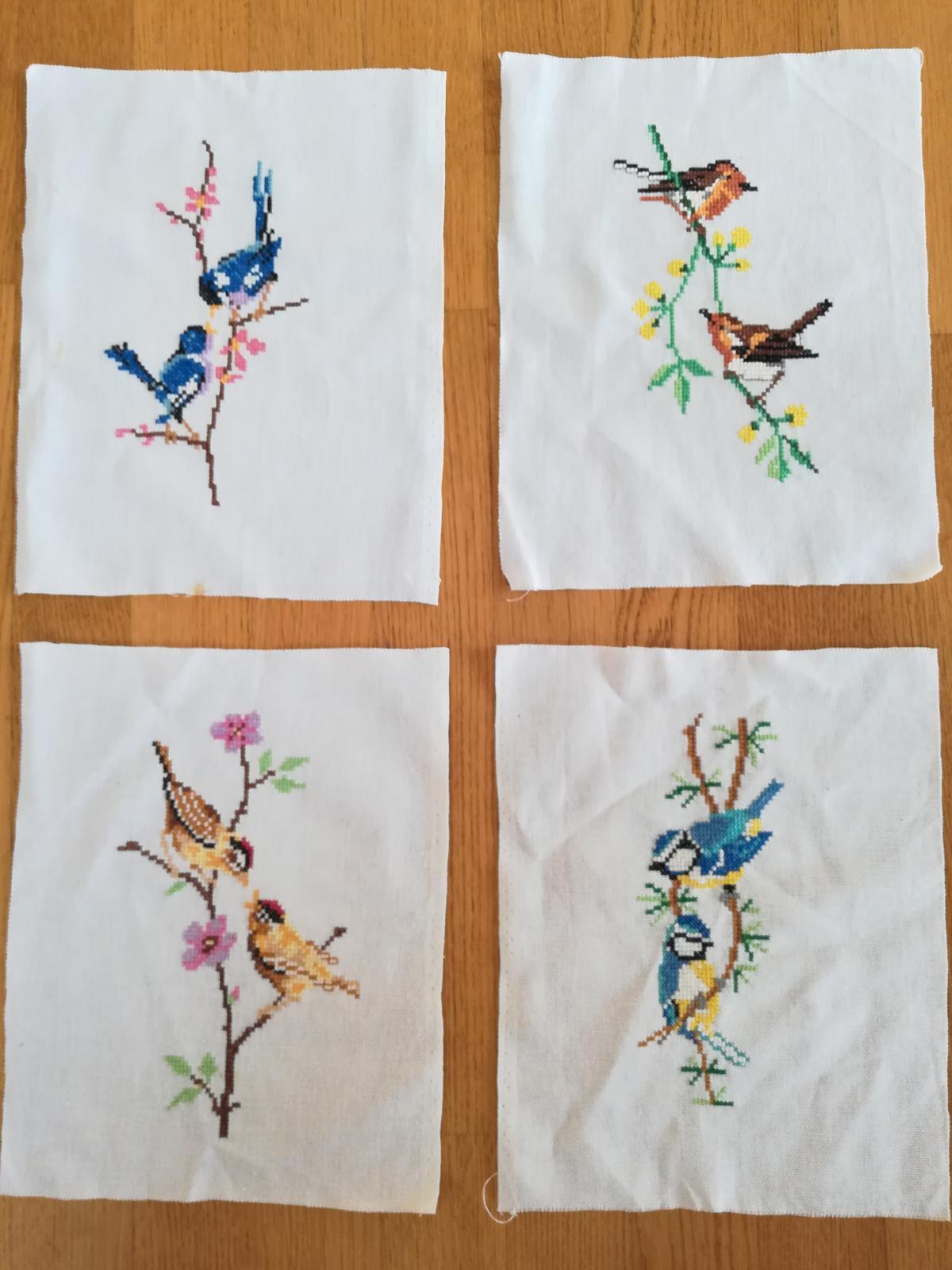 Vyšívané vtáčiky do rámikov - Obrázok č. 3