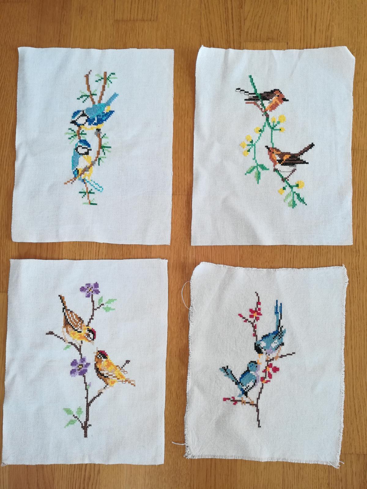 Vyšívané vtáčiky do rámikov - Obrázok č. 2