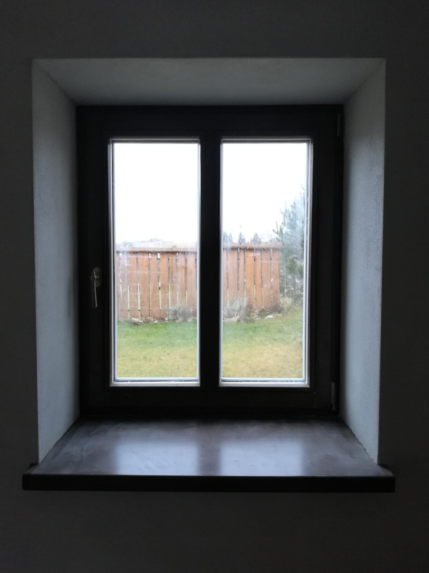Letná kuchyňa. Inšpirácie vs. realita - Nové drevené okná.