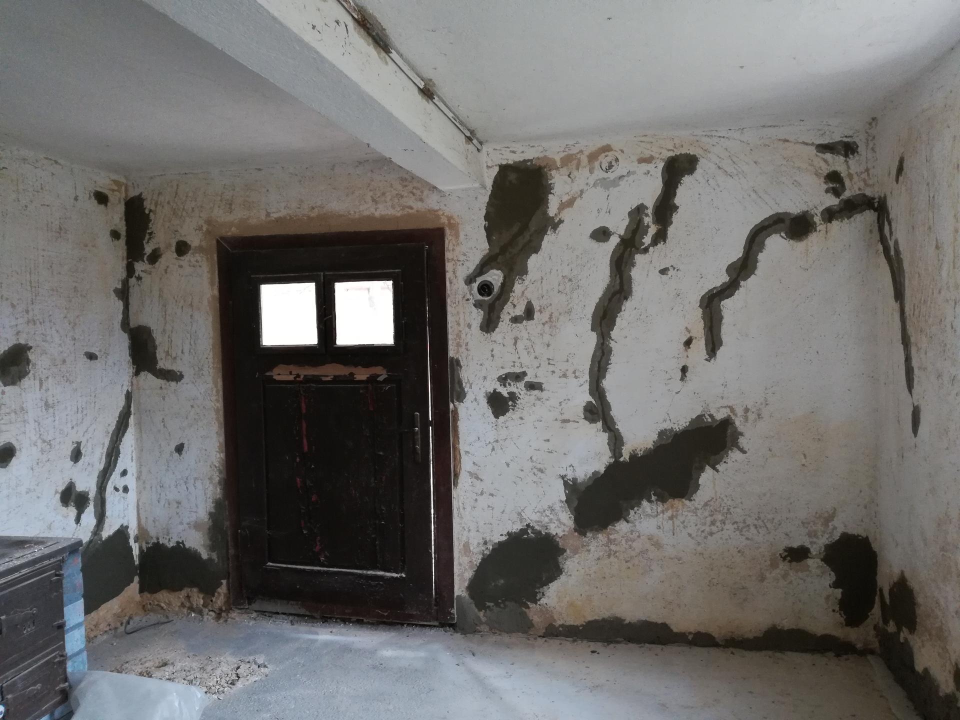 Letná kuchyňa. Inšpirácie vs. realita - Teraz vyspravíme steny...